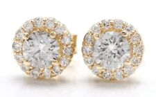 1.00 Carat Natural Diamonds in 14K Solid Yellow Gold Stud Earrings