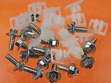 GM License Plate Screws & Nuts (Qty 32 Pcs) #1010