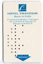 CARTE / CARD  HOTEL CLE  KEY .. FRANCE MARNE LA VALLEE FRANTOUR RARE VALETRONICS