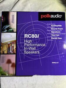 "Polk RC80i 8"" In-Ceiling Speakers Pair - White - New"