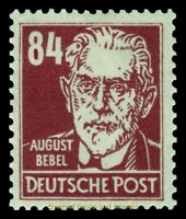 EBS Germany 1948 Soviet Zone Famous People - August Bebel - Michel 227 MNH**