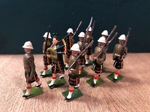 Britains: From Set 114 - Queens Own Cameron Highlanders. Repainted. Pre War