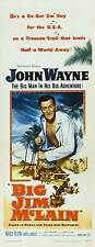 BIG JIM MCLAIN Movie POSTER 14x36 Insert John Wayne Nancy Olson James Arness