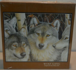Bits And Pieces WOLF GANG 500 Piece Jigsaw Puzzle NEW Kathy Goff Art Wow