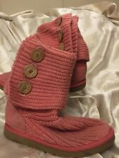 UGG Knitting Pink Boots Size 4.5(37)