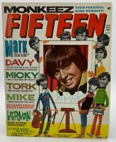 Fifteen Magazine Nov 1967 The Monkees Davy Jones Peter Tork Raiders 20-258DAM