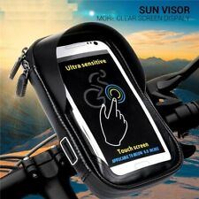 Phone Holder Stand Motorcycle Handlebar Mount Bag For iPhone X Samsung Lg Huawei