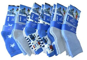 6 Paar Kinder Socken Jungen Jungs Thermo Strümpfe Baumwolle Winter Warm Muster