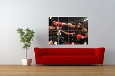 Foto: acción, Deportes Boxeo Iron Mike Tyson Knockout Gigante impresión Cartel nor0975