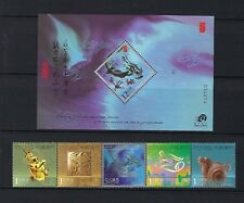 China Macau Macao 2012 New Year of Dragon stamp set