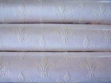 3 Rolls Anaglypta Wallpaper/Fleur de Lis French Royalty/Textured Crown England