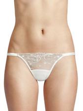 La Perla MODERNISTA Off White Embroidered Tulle Stretch Nylon G-String Thong  XL