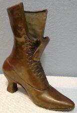 Vintage Solid Brass Old Fashion Ladies Boot Vase Planter 8 x 7 1/2 x 4 Heavy