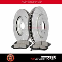 2x Front Brake Discs Rotors And 4x Ceramic Pads For Xterra 2005 2006-2015