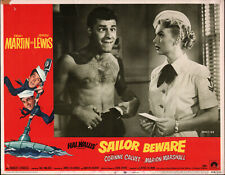 SAILOR BEWARE orig lobby card JERRY LEWIS/MARION MARSHALL 11x14 movie poster