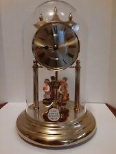 Vintage Junghans Quartz Anniversary Clock W/figurines
