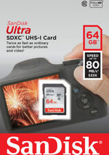 64GB SD Card SanDisk SDHC SDXC Ultra SDHC Class 10 533X 80 MB/sec  Memory Card