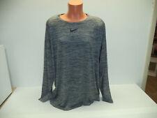 New Mens Size 3Xl 3X Nike Pro Slim Fit Black Print L/S Shirt Stretch 922181 010