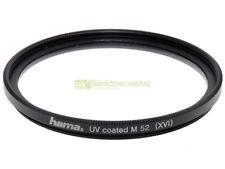52mm. filtro UV Coated M52 Hama. Ultra Violet Filter.