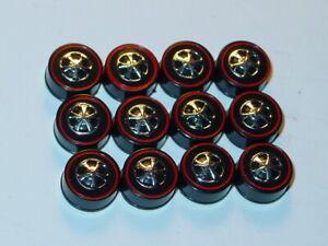 Hot Wheels Redline Red Line HK WHEEL TIRE Lot of 12 MEDIUM Bearing Style -NEW!