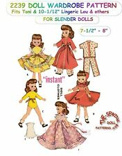 """Fits Betsy Mccall Doll Clothes Pattern 7-8"""" VINTAGE No. 2239"""