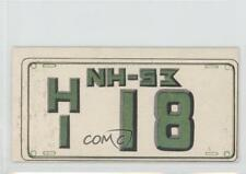 1953 Topps License Plates #19 New Hampshire Non-Sports Card 0s4