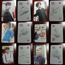 LOT of 6 B.A.P All Member Official PHOTOCARD BAP Unplugged 2014 4th Single 비에이피