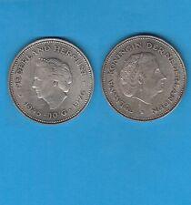Gertbrolen Pays-Bas 10 Gulden   argent 1970 Juliana Reine  Silver Coin