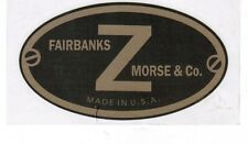 Fairbanks Morse Z Hit & Miss Gas Engine Motor Decal