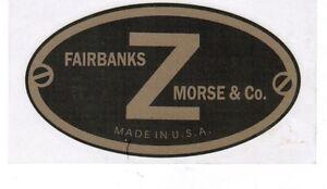 Fairbanks Morse Z Hit & Miss Gas Engine Motor Decal