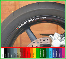 SUZUKI SV RACING Wheel Rim Decals Stickers sv1000 sv650 sv650s svr650 650 1000 s