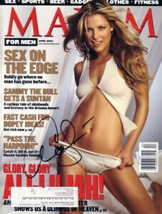 Ali Larter autographed signed autograph sexy April 2001 Maxim magazine cover COA