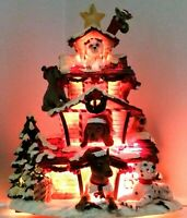 San Francisco Music Box Co. Happy Howladays Dog Lodge Christmas Decor W/ Lights