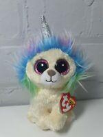 Rare Ty Beanie Boo Boos LAYLA Unicorn Lion Claires Rainbow Unilion w/TAGS!!