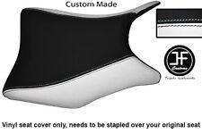 Black & White de vinilo personalizado se ajusta a Honda CBR 250 frontal Rider Cubierta de asiento 2011-2012