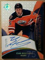 2018-19 EVAN BOUCHARD UD ULTIMATE COLLECTION AUTOGRAPH ROOKIE CARD #RRA-BO #/175
