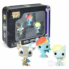 New My Little Pony Pocket Pop! Tin 3 Vinyl Figure Pack Funko Official Licensed