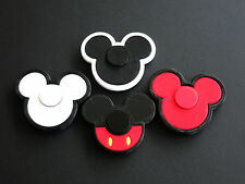 SET 4 PCS. RED WHITE MICKEY MOUSE FIDGET SPINNER NON-TOXIC PLASTIC MADE IN USA