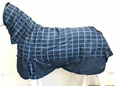 600D NAVY CHECK/NAVY 220g STABLE HORSE COMBO RUG - 5' 6 CLEARANCE SALE!