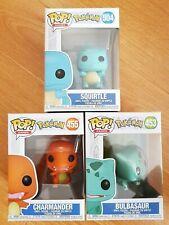 Funko Pop! Pokemon - Squirtle #504, Charmander #455 & Bulbasaur #453 (Brand New)
