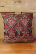 Liberty Of London Ianthe Thick Linen Fabric Cushion Cover Green