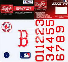 Boston Red Sox MLB Baseball Batting Helmet Rawlings Decal Kit