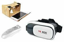 VR Headset BOX Virtual Reality Glasses 3D for Samsung iPhone + Bluetooth Remote