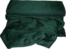 100% Pure Dupioni Silk Indian Handwoven Fabric Selling by Yard Solid Dark Green