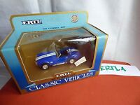 ERTL 2851 1965 AC 427 COBRA 1:43 TOY CAR AMERICAN MUSCLE V8 SHELBY BLUE WHITE