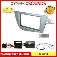 Car Stereo Double Din Fascia / Steering Fitting Kit for Seat Leon Mk2 2005-2009