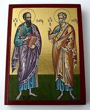 Petrus+Paulus IKONE Icon Ikonen orthodox Icoon Ikone Ikona Иконка Питер Пауль