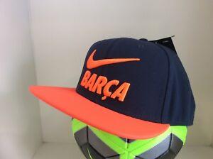 Nike FC Barcelona Official Pro Pride Orange & Navy Cap Hat