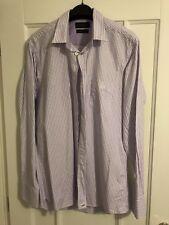 Henri Lloyd Purple And White Striped Shirt - Large