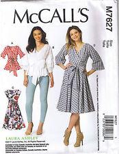 Flared Wrap Top Dress Waist Ties Sleeve Variations Sewing Pattern 6 8 10 12 14